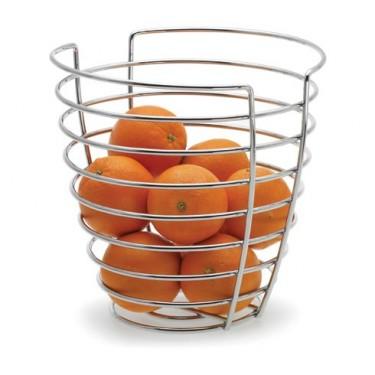 Frutero de varillas de metal con naranjas